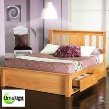 Limelight Vesta American Oak Wooden Storage Bed