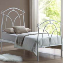 Limelight Omega Metal bed Frame - White