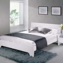 Limelight Phobos Bed Frame - White High Gloss