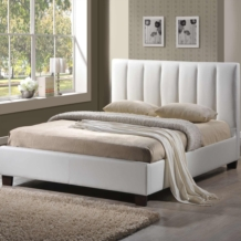 Limelight Pulsar White Faux Leather Bed