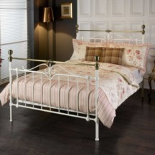 Limelight Sigma Metal Bed Frame - Ivory