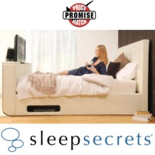 Sleep Secrets Montana Electric Wireless TV Bed Faux Leather