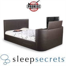 Sleep Secrets Vienna Electric Push Button TV Bed Faux Leather
