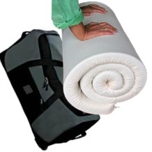 Memory Foam Travel Topper - Fabric Cover and Wheeled Holdall