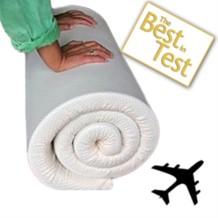 Memory Foam Travel Mattress Topper - Fabric Cover