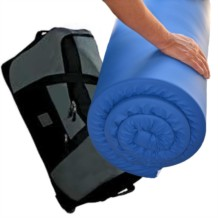Memory Foam Travel Topper - Water Resistant Cover and Wheeled Holdall