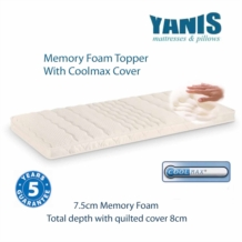 Yanis Memory Foam Topper - with Coolmax Cover