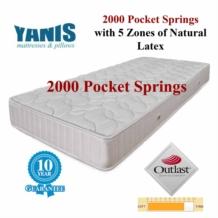Yanis Pocket Spring 2000 Latex Mattress