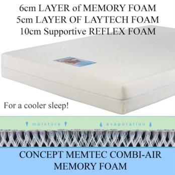 Concept Memtec Combi Air Memory Foam Mattress