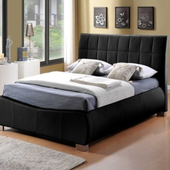 Limelight Dorado Faux Leather Bed Frame - Black