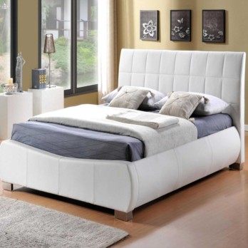 Limelight Dorado Faux Leather Bed Frame - White