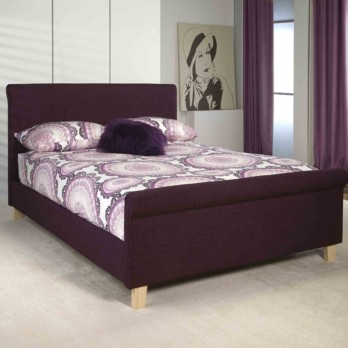 Limelight Eclipse Upholstered Sleigh Bed Plum Fabric