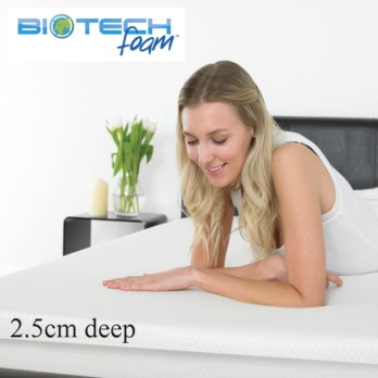 Sleep Secrets Ventilated Memory Foam Topper 2.5cm