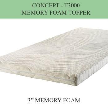 "Concept Memory Foam Topper T3000 7.5cm (3"")"