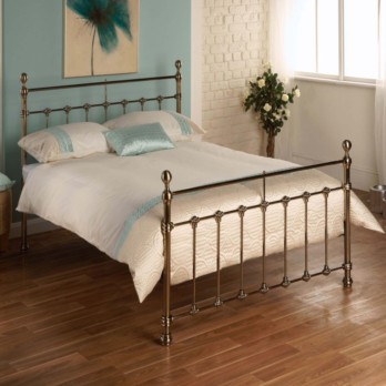 Limelight Tarvos Metal Bed Frame - Brass