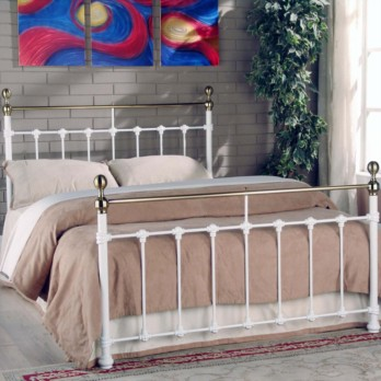 Limelight Tarvos Metal Bed Frame - White