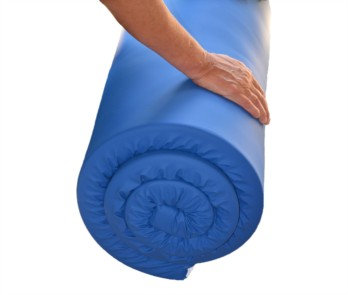 Memory Foam Travel Mattress Topper - Water Resistant Cover