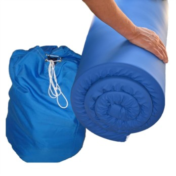 Memory Foam Travel Topper - Water Resistant Cover and Drawstring Holdall