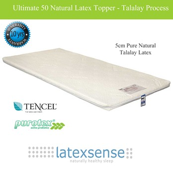 Latex Sense Ultimate 50 Natural Latex Mattress Topper - Talalay Process