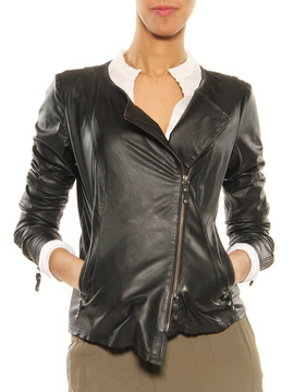 Leather jacket GMS-75 black