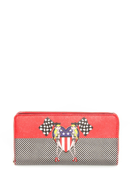 Wallet Moschino Love red