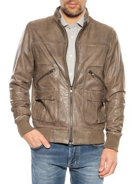 Leather jacket Bully grey