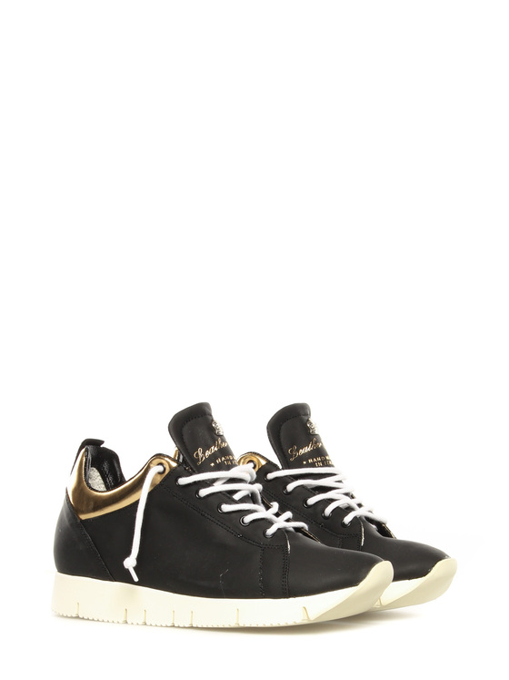 Sneakers Leather Crown black