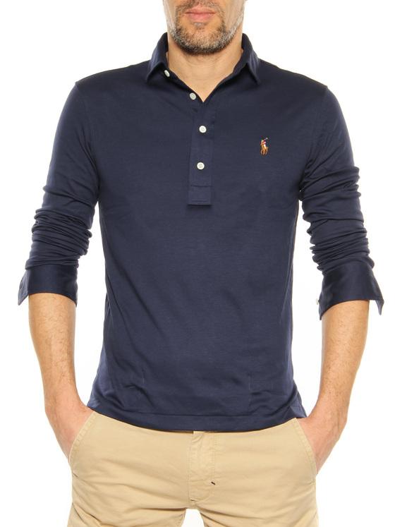 Long sleeve Polo Ralph Lauren dark blue