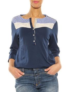 "T-Shirt ""Primula"" Luis Trenker blue"