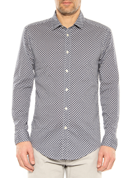 Shirt Stefano Calmonte dark blue