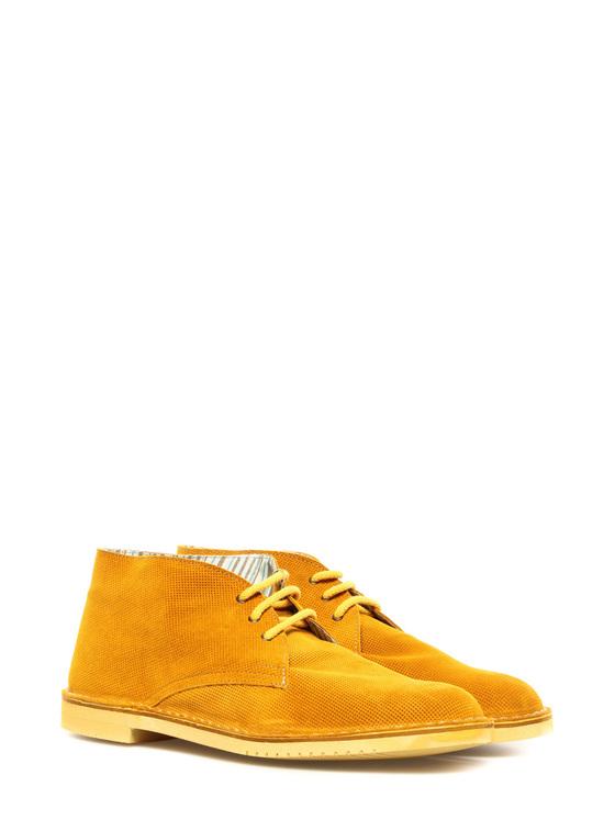 "Lace up shoes ""Diave"" Weg mustard yellow"