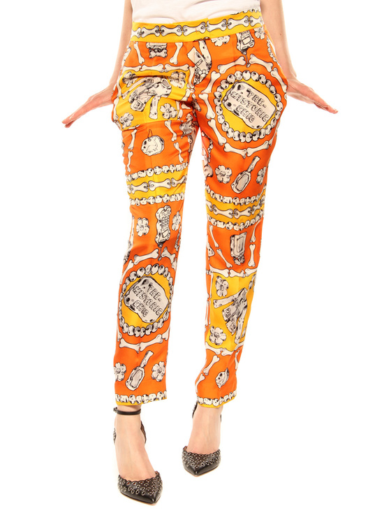 Trousers Moschino Cheap and Chic orange