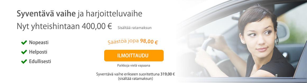 Syventävä vaihe Tampereella edullisesti