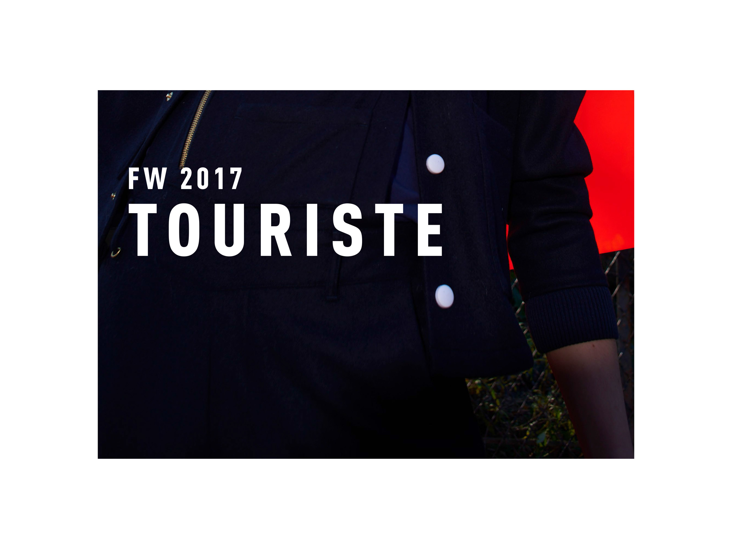 Lookbook touriste fw17 2