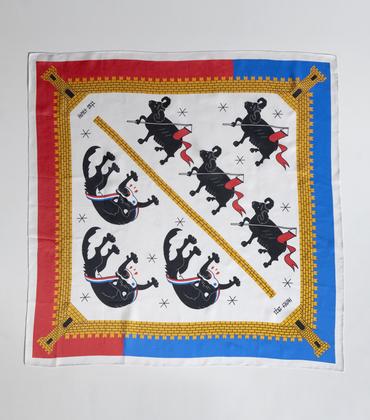 Silk scarf Honet