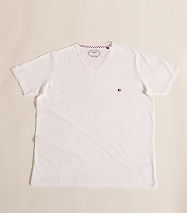 Tee-shirt V-neck Victoire - White