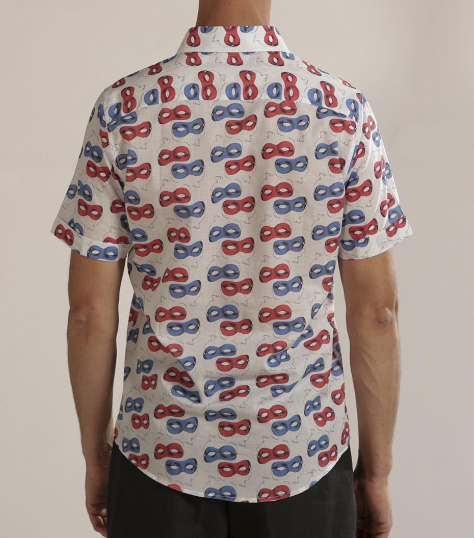 Shirt Moussu - Masques pattern