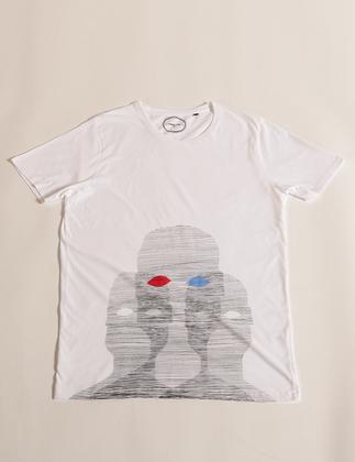 Tee-shirt Anonymes - Blanc