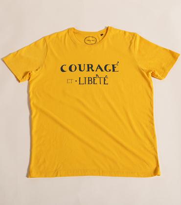 Tee-shirt Courage - Yellow