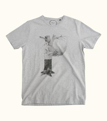 Tee-shirt P - Gris chiné