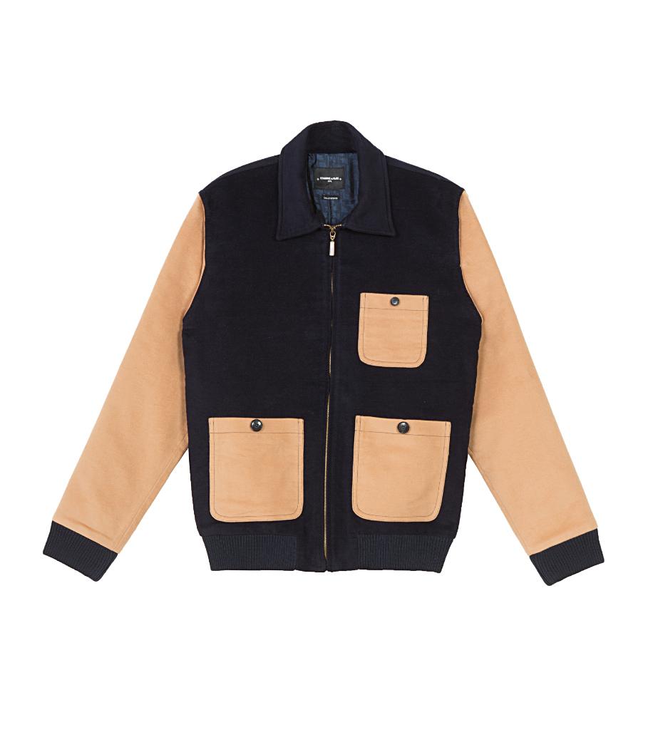 Jacket Aristide - Navy/camel