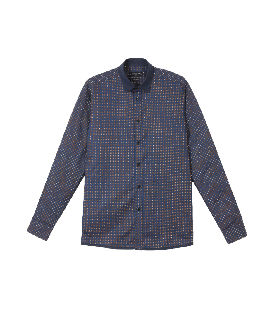 Shirt Jaroslaw 02 - Blue pattern