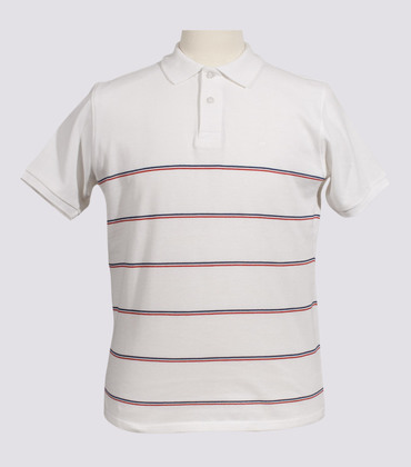 Polo VANVES - White with stripes