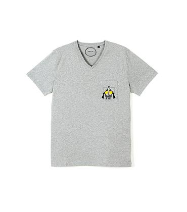 Tee-shirt V-Fusil 02 - Gris chiné