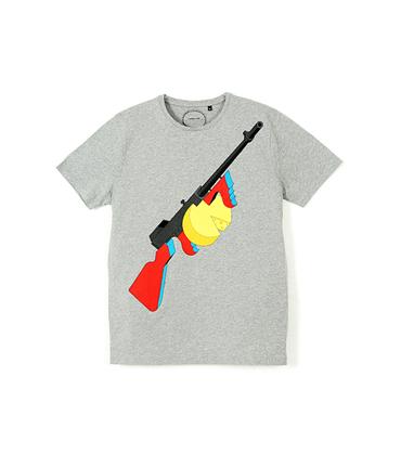 Tee-shirt Fusil - Gris chiné