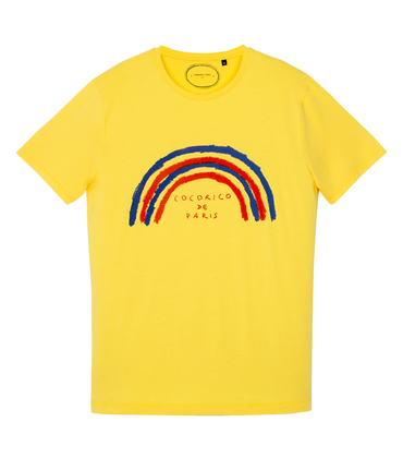 Tee-shirt Arc-en-ciel - Jaune