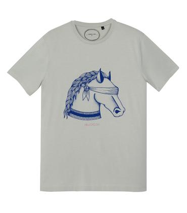 Tee-shirt Cheval - Medium grey