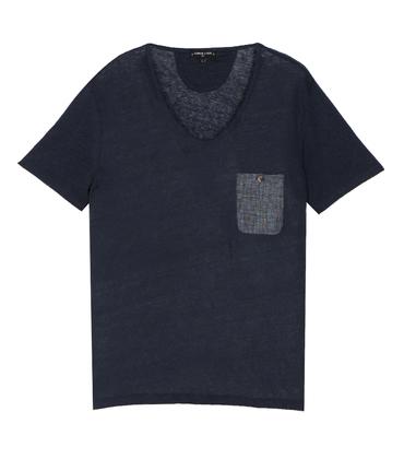 Tee-shirt V-neck Aimée - Navy