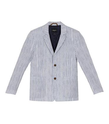 Suit Jacket Protot 2 - Blue stripes
