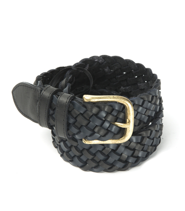 Belt Tresse - Navy/black leather